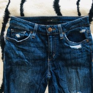 Joe's Medium Wash Distressed Skinny Jeans